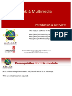 01 Introduction to Mobile Web Multimedia Module Introduction