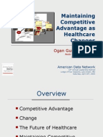 Maintaining Competitive Advantage as Healthcare Changes