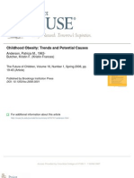 Childhood Obesity Trends and Causes