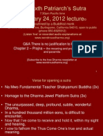 The Sixth Patriarch's Sutra February 24, 2012 Lecture