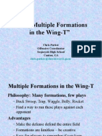 using multiple formations in the wing-t