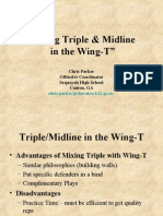 using triple & midline in the wing-t