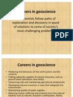 Careers in Geoscience