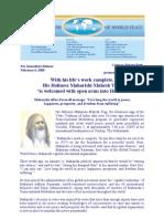 Maharishi Welcomed Into Heaven