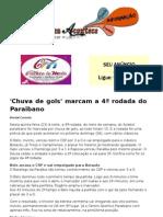 'Chuva de gols' marcam a 4ª rodada do Paraibano