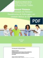 Manual técnico de normas e rotinas de enfermagem em inidades básicas - sp
