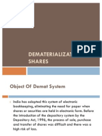 Dematerialization of Shares