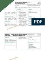 Caracterizacion Proceeso de Produccion de Plasticos