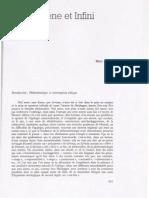 Marc Richir - Phénomène et infini