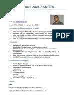 CV de Mohamed Amin Abdelkéfi