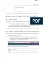Streaming Video to From SL
