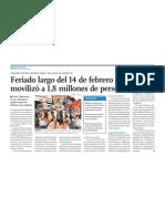 Negocio y Turismo aumenta en Perú