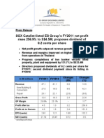 SGX Catalist-listed ES Group's FY2011 net profit rises 256.9% to S$4.5M; proposes dividend of 0.2 cents per share