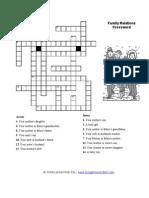 Family Relations Crossword