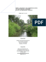 Geomorphic Assessment and Corridor Planning,  McCabe's Brook Watershed - No Appendix