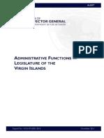 AUDIT (Virgin Islands Legislature) 2011 USDOIOIG-Office of the Inspector General