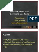 RAllen Windows Server 2003 Command-Line Tools