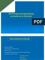 Sémiologie échographique normale de la thyroïde