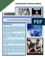 Course Title Strategic Project Management Programme
