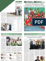 9ª EDIÇÃO - JORNAL NATÉRCIA EM NOTÍCIA - JANEIRO DE 2012