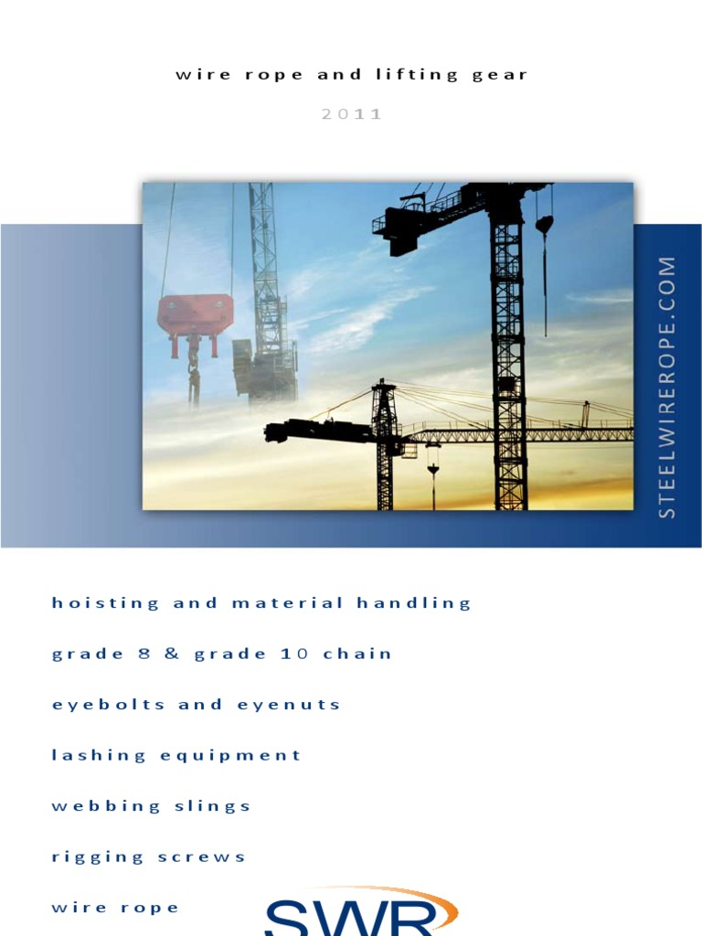 Lifting Gear Brochure   Rope   Wire