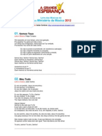 Letras Das Musicas JA 2012