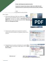 Restaurar Una Bases de Datosen SQL Server 2008