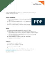 Practicante Profesional de Proyectos Sistematización Febrero2012