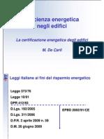 [I.2]DECARLI Certificazione Energetic A