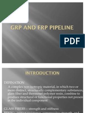 Grp and Frp Pipeline   Fiberglass   Epoxy