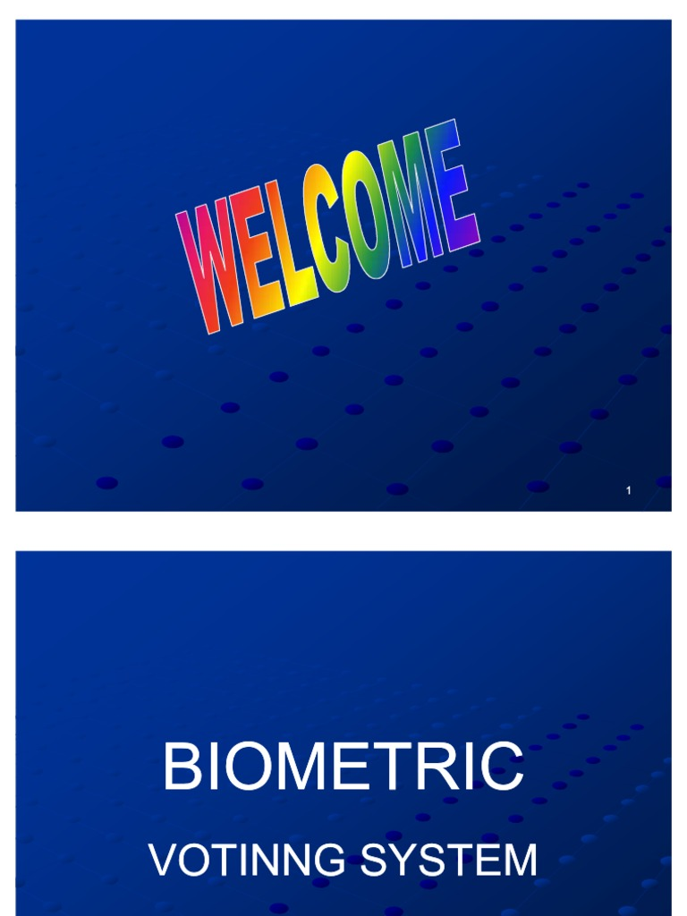 Ppt On Biometric Voting Machine