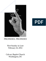 Worship Bulletin, February 26, 2012—Promises, Promises