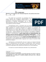 NOTA PRESENTACIÓN DE TRABAJO AL TSJE