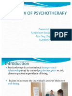 Overviw of Psychotherapy