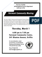 Fairmont Community Meeting