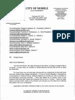 Mayor Jones Budget Issues 02.24.12