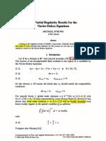 Struwe Partial Regularity