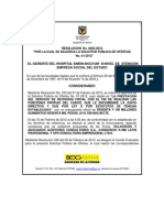 Resolucion de Adjudicacion SPO-01-2012