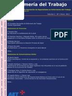 Enfermería del Trabajo, volumen 2, número 1, 2012
