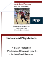 Play Action Passes