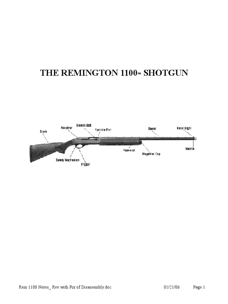 Remington 1100 Schematic Online Everything About Wiring Diagram Parts Trap T Shotgun Trigger Firearms Rh Es Scribd Com Disassembly