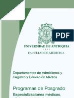 Convocatoria de posgrado-2012 Facultad de Medicina UdeA