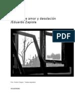 Poemas de amor y desolación / Eduardo Zapiola
