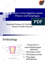 Anatomy of the Pharynx and Esophagus 2012