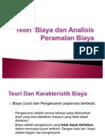 Teori Biaya Dan Analisis Peramalan Biaya