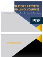 Ex 8 Respiratory Patterns and Lung Volumes