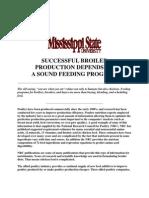 Broiler Production Feeding Program