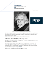 10 Strange Facts About Einstein