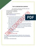 STAINLESS STEEL TIN TA CORPORATION