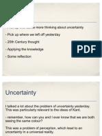 Uncertainty, Language, Application Tasks